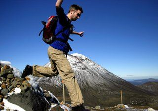 Tongariro Alpine Crossing, a must do when you are backpacking in Great Lake Taupo, New Zealand.