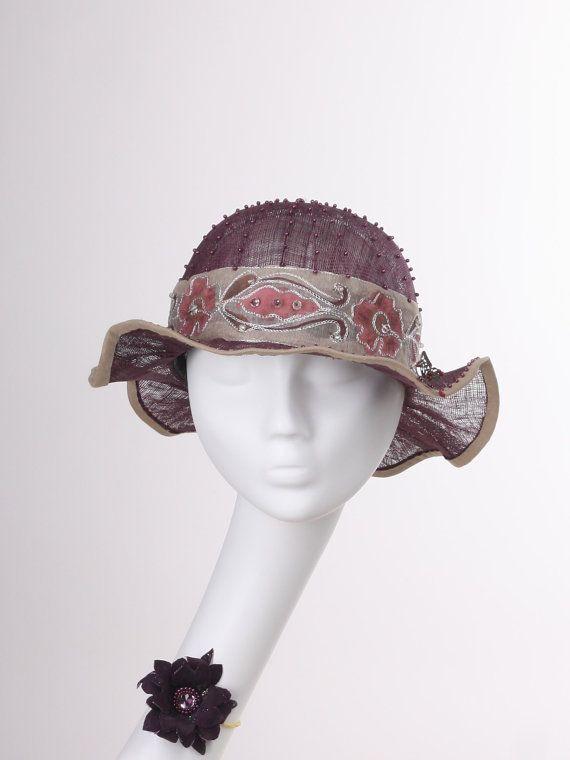 Аксессуары шляпы шапки летние шляпы вечерние шляпы темно