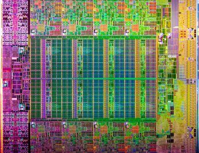 Intel Xeon E5-2600 processor die.