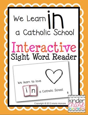 Catholic Schools Week Interactive Sight Word Reader