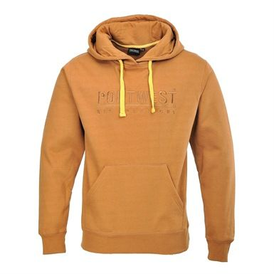 This very stylish Portwest Mercury Hoody is a thick polycotton hooded sweatshirt. It features a large kangaroo pocket at the front  and a comfortable jersey lined hood with cord adjustment.