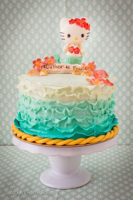 Hello Kitty Mermaid Cake. OH. MY. GOD. @Jean Luan | food ...