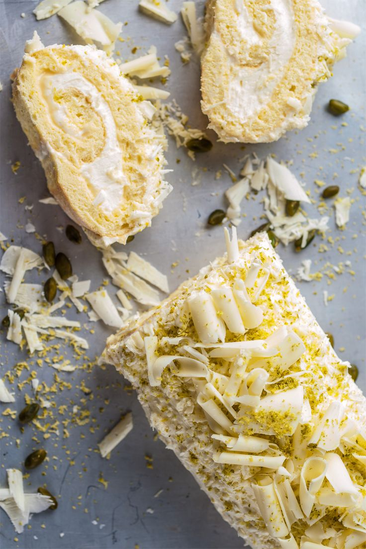 Not everything is as it seems with this show-stopping lemon roulade, as hidden beneath the pillowy sponge is lemon curd and white chocolate mousse.