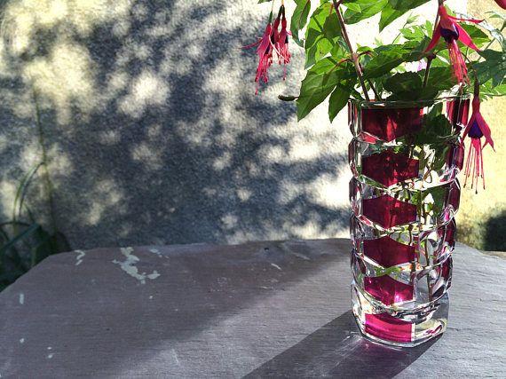 J G Durand Luminarc Vase / 1970s French / Display flowers /