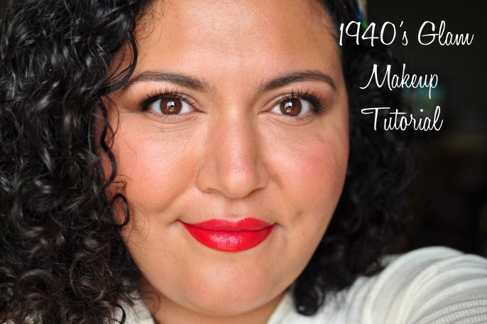 1940's Glam Makeup Tutorial- now this is good because it's not costumey, but simple, wearble, and gorgeous.  Love those red lips!