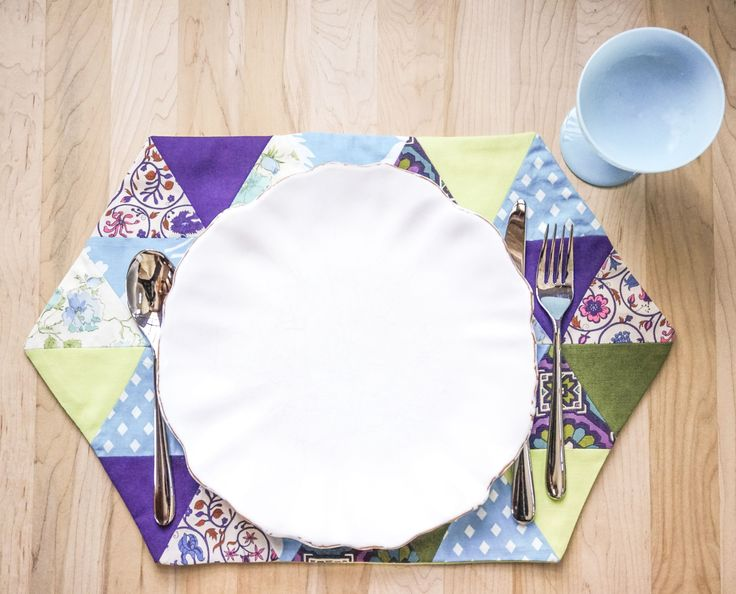 Purple and Green Quilted Placemats from the 1970s