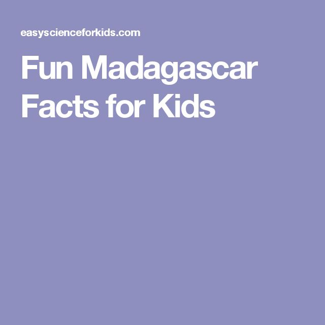 Fun Madagascar Facts for Kids