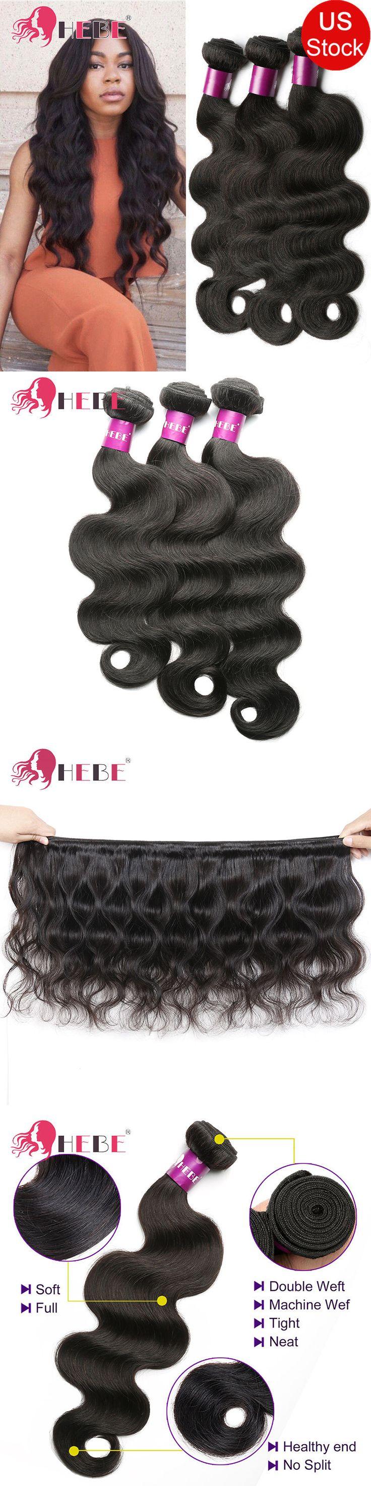 Hair Extensions: Cheap Brazilian Virgin Hair Bundles 100G Bundle Wavy Human Hair Extensions Weave -> BUY IT NOW ONLY: $85.5 on eBay!