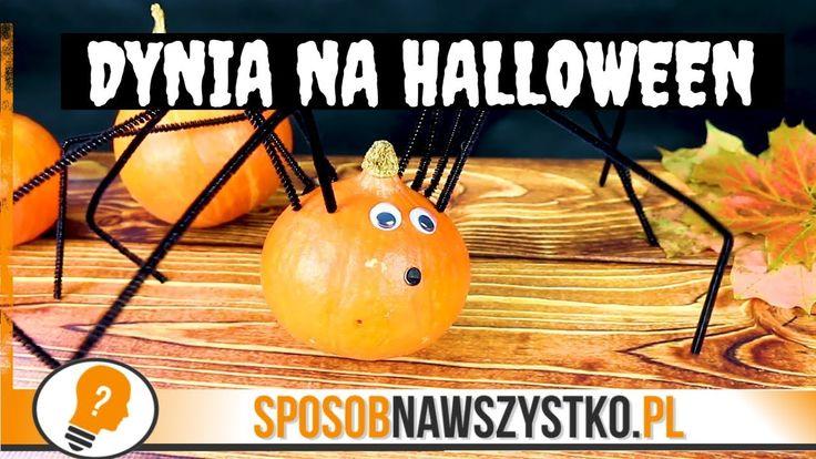 Dynia na Halloween - jak zrobić pająka z dyni? #halloween #diy #halloween2017 #craft #children