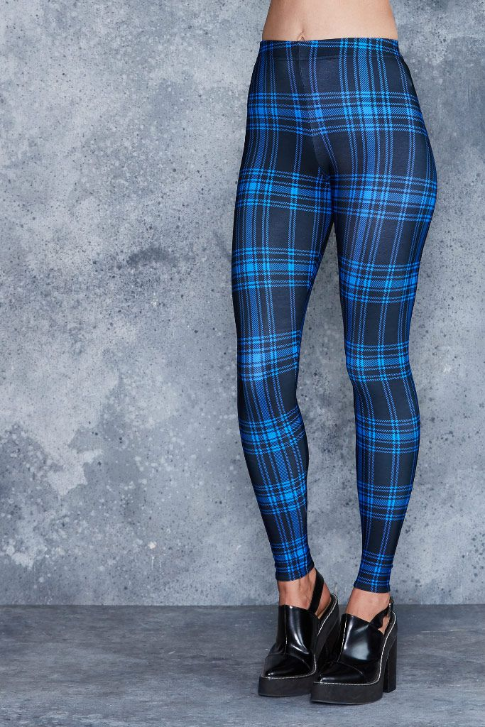 Tartan Punk Blue Toasties - 48HR ($80AUD) by BlackMilk Clothing