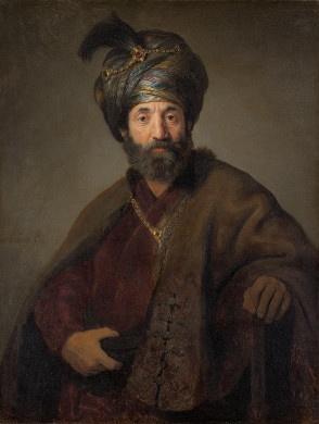 Man in Oriental Costume / Rembrandt van Rijn and Workshop (Probably Govaert Flinck) / c. 1635