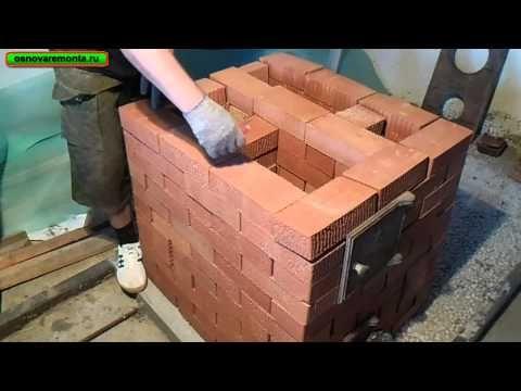 Подробная кладка печи 3х3,5 кирпича за 9 тыс. руб. 1-часть.(кухонная плита с отопительным щитком) - YouTube