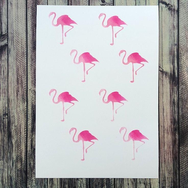 NőiCsizma | Flamingós stencil