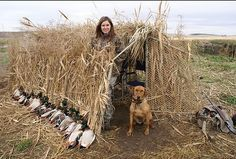 Homemade Duck hunting blinds , You can do it yourself for a very good price.