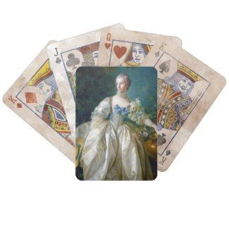 FRANCOIS BOUCHER - MADAME BERGERET portrait art Bicycle Poker Cards #francois #Boucher #madame #bergeret #painting #rokoko #gift #accessory #decoration #lady #art #Paris #France