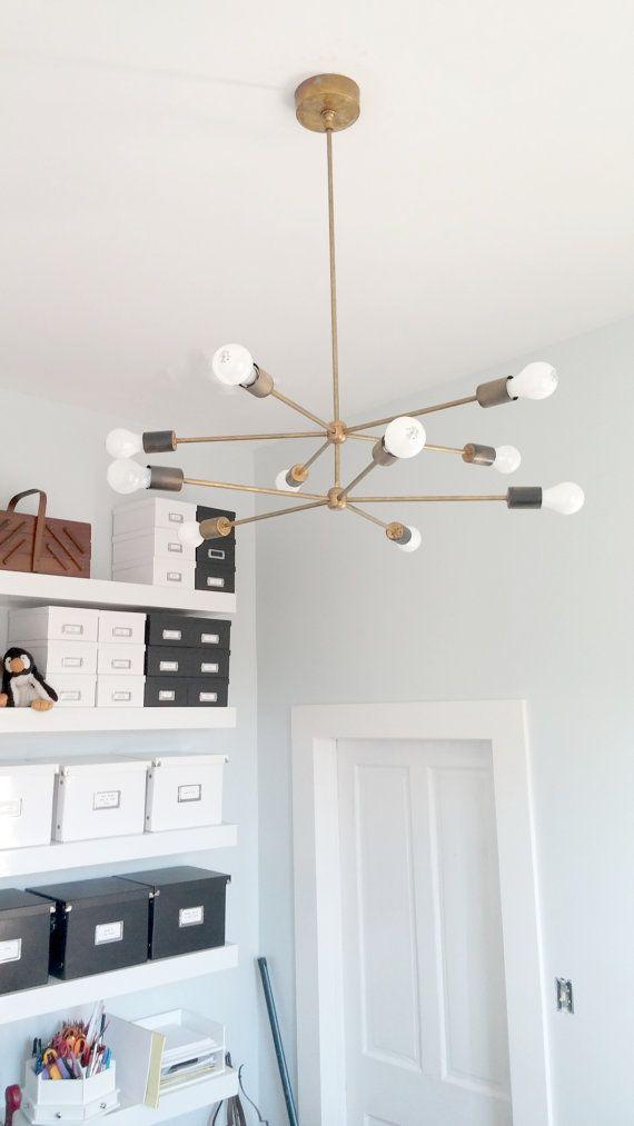 2 Tiered Sputnik chandelier / hanging light / by SazeracStitches