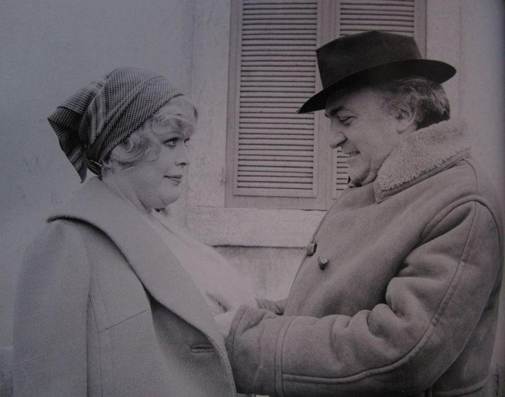 """With Maria Antonietta Beluzzi, the busty tobacconist in """"Amarcord"""""""