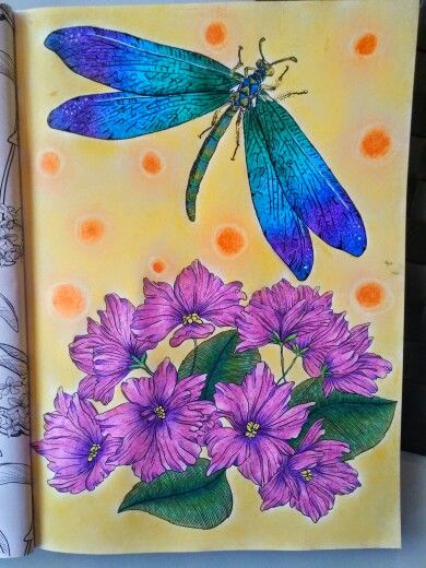 Niezwykły Zielnik Claudia, Ważka, dragonfly, kwiaty