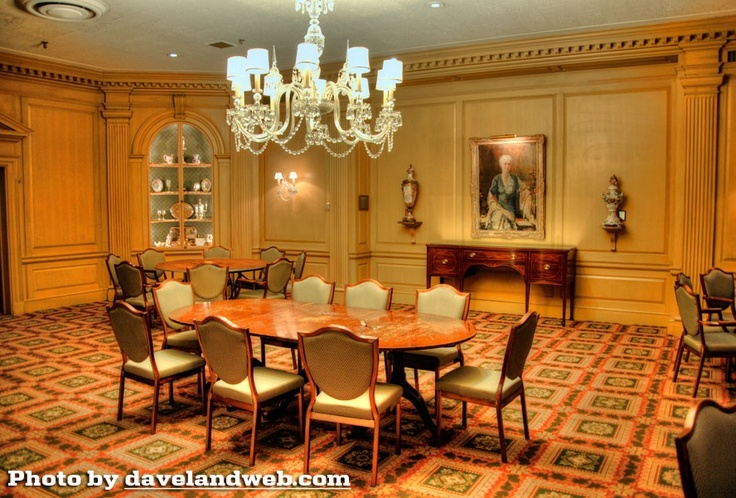 The dining room of The Federal Room at the Indiana ...