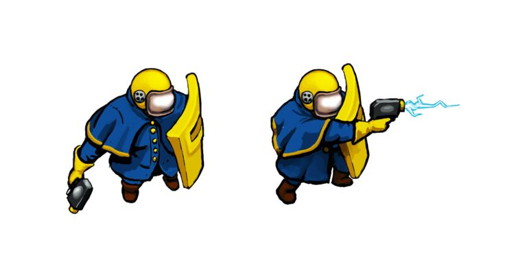 Enklave Short Range Infantry, #conceptart from Corp Wars: The Siege by @Kybernesis #GameDev #CorpWars