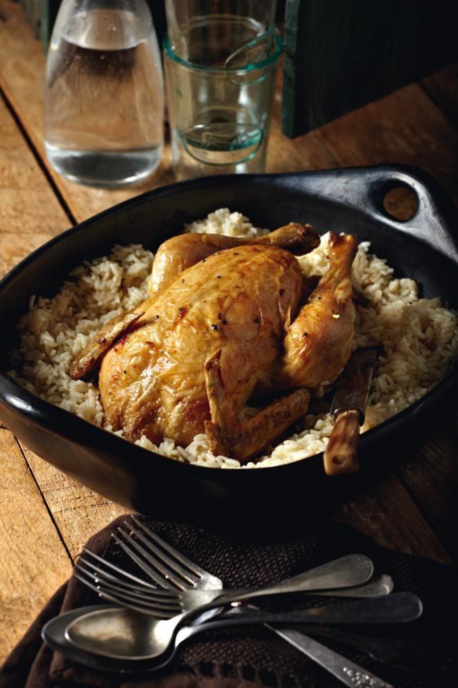 Κοτόπουλο κατσαρόλας με πιλάφι