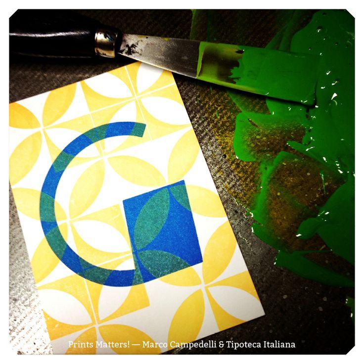 """— G — """"Print Matters!"""" è una collaborazione di Marco Campedelli & Tipoteca Italiana — presso Tipoteca Italiana. #printmatters! #marcocampedelli #tipotecaitaliana #letterpress #index"""