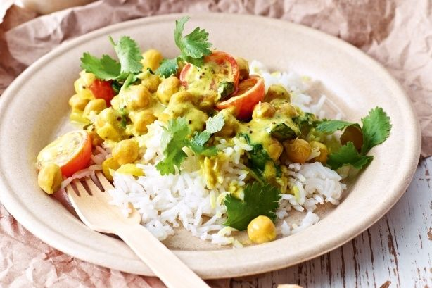 Taste:  Chickpea and Spinach Curry