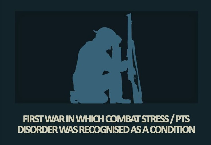 WW1 was the first war where combat stress (Shell Shock) was officially recognised as a condition of war.