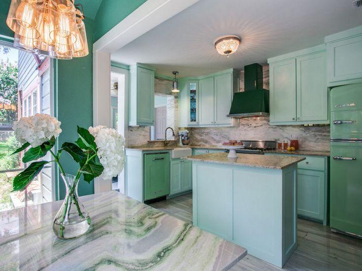 Moderne Retro-Stil Vintage inspirierte Küche Designs und ...