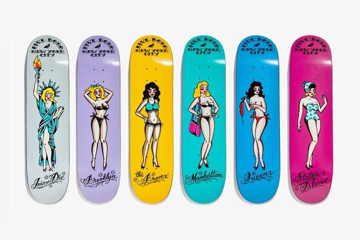 5boro x Smith Street Tattoo Parlour Pinup Skateboard Decks