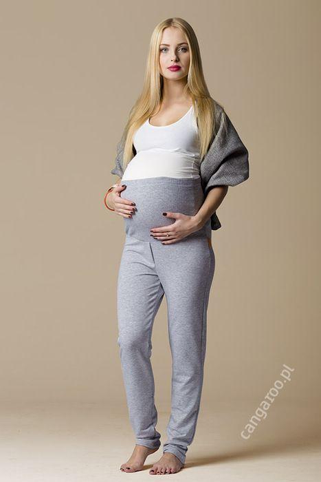 Spodnie dresowe z panelem ciążowym.