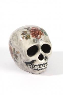 iggy & lou lou skull tattoo rose via the grand social website.