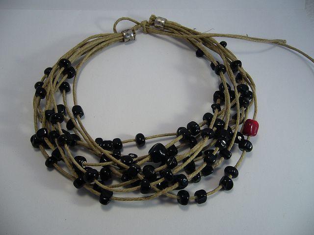 4B Collier Penso 100 perles noir 2 | Flickr: partage de photos!