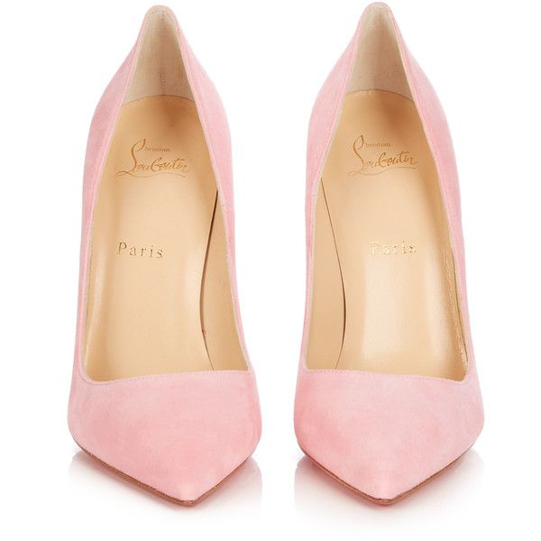 Christian Louboutin So Kate 120mm suede pumps (40.770 RUB) ❤ liked on Polyvore featuring shoes, pumps, suede pumps, high heeled footwear, pink high heel pumps, pink pointy toe pumps and pointed toe pumps