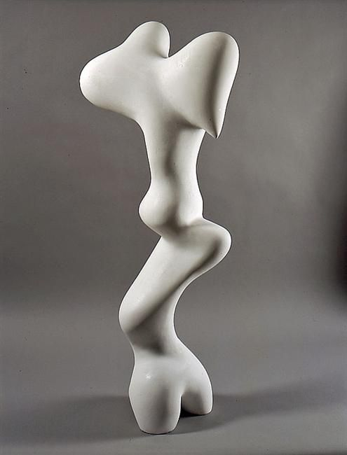 Jean Arp, Growth, 1935. It really looks as if a figure is metamorphosing and is about to burst out.