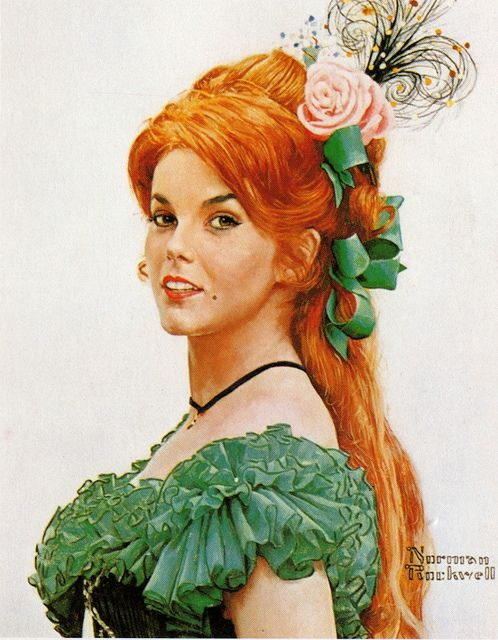Ann-Margret by Norman Rockwell. Norman Rockwell painted portraits of all the stars of the movie Stagecoach