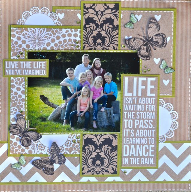 A layout made using the Mix & Match Collection from kaisercraft By Kelly-ann Oosterbeek.