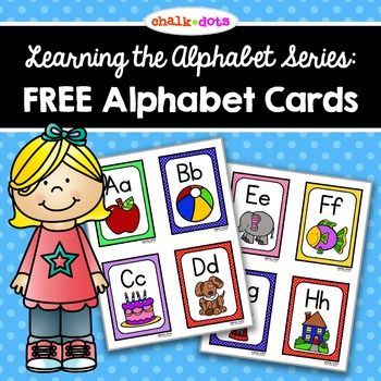 FREE!! These cute colorful alphabet cards are perfect for teaching beginning sounds or reviewing beginning sounds. You can use them in a variety of ways: flashcards, word wall labels, matching game, etc. There are four alphabet cards per page and each card shows the uppercase and lowercase letter along with a picture that correlates with the beginning sound.