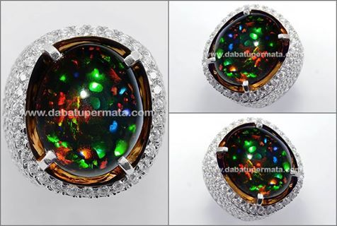 Hot Fire Pancawarna BLACK OPAL Kalimaya ( OP 068 )