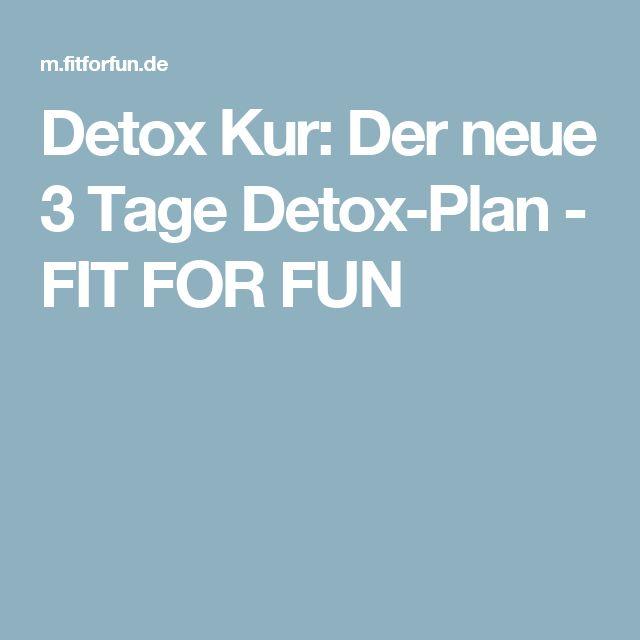 Detox Kur Der Neue 3 Tage Detox Plan Fit For Fun Diät