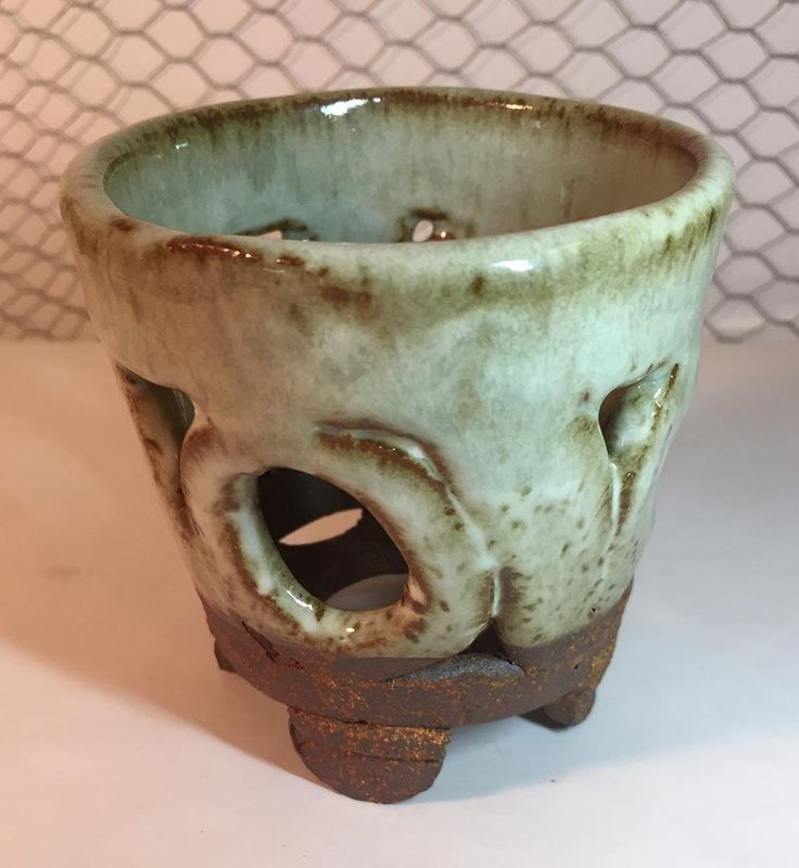 Rustic Neofinetia Falcata Mini Orchid Clay Planter Pot - Karen #32 by Lancys on Etsy