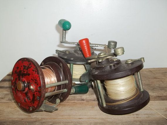Vintage Fishing Reel Lot Penn Fishing Reel by JunkyardElves, $68.00
