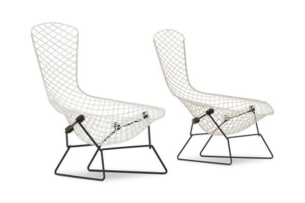 Bird Chairs By Harry Bertoia For Knoll International 1960s Set Of 2 3 Bertoia Chair Harry Bertoia
