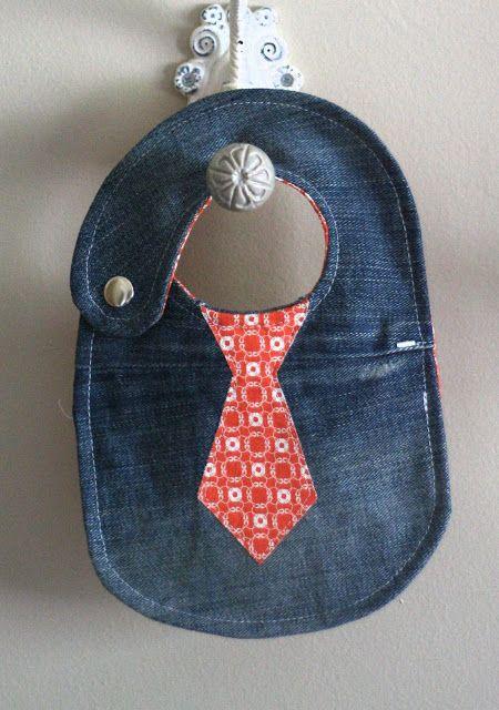 Cute tie bib (inspiration) :) My first one is here - http://suddenlysandra.blogspot.ca/2013/04/fish-with-bibs-no-fish-and-bibs-d.html :)