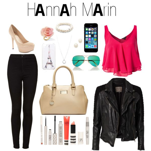 Black leather jacket, hot pink or red shirt, with black jeans/jeghings. paired with black Bombat boots