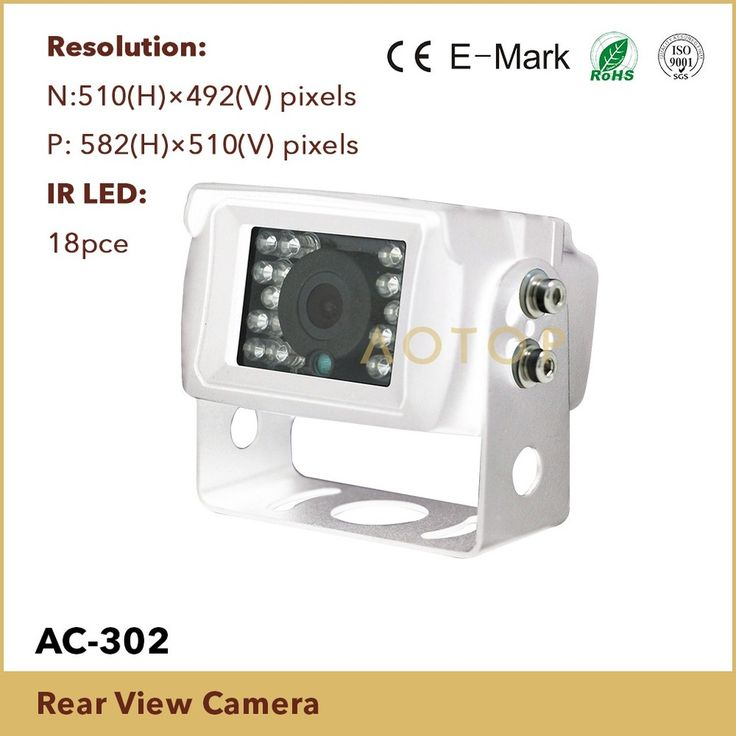 24V rear view parking camera for truck, Sony CCD backup camera with waterproof IP69K, black LED car reversing camera