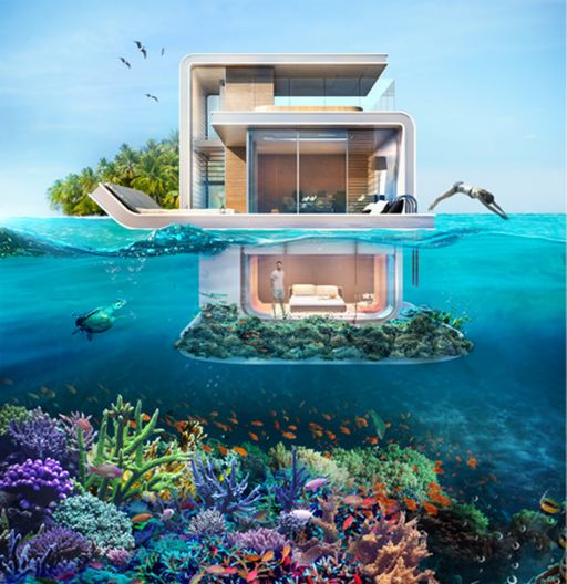 4.16.15 - Floating Seahorse boats to offer partially submerged living in Dubai's Heart of Europe
