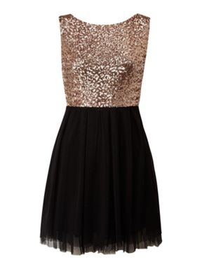 Sequin top dress Black - House of Fraser. This is so pretty for the Holidays