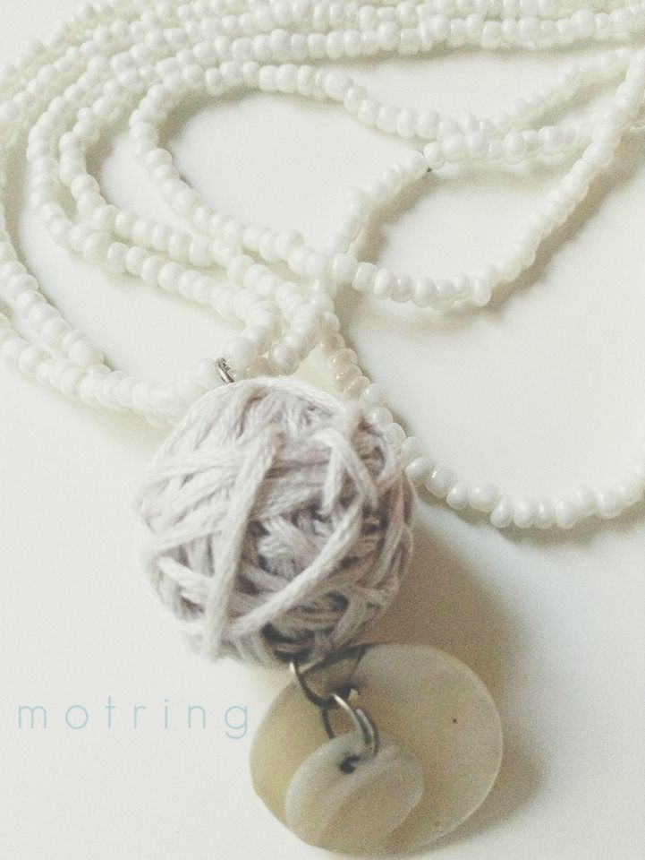 beautiful motring necklace with shell