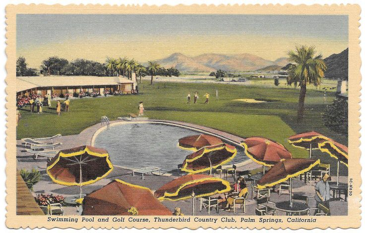 17 best images about palm springs on pinterest aerial for Thunderbird golf course palm springs